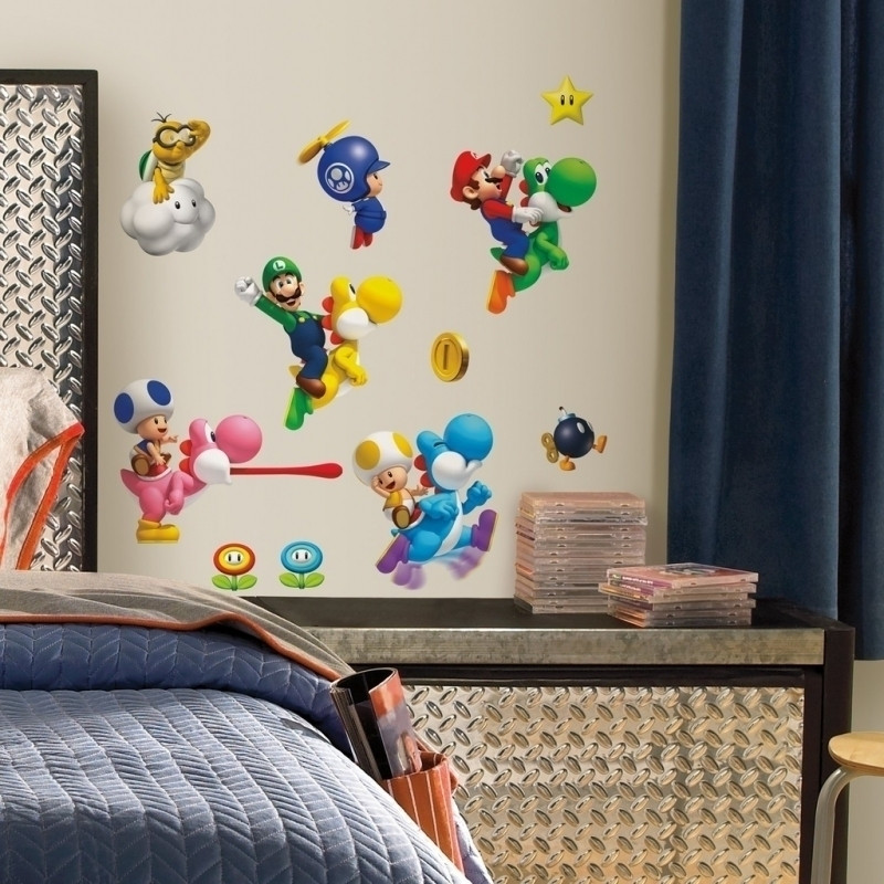 New Super Mario Bros Wall Decals