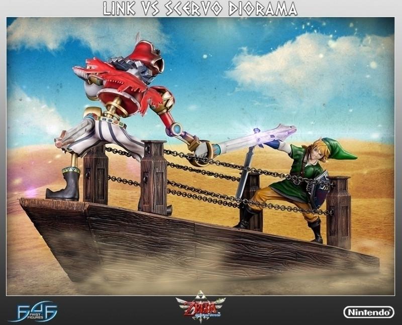 Legend of Zelda-Skyward Sword: Link vs Scervo Diorama regular edition