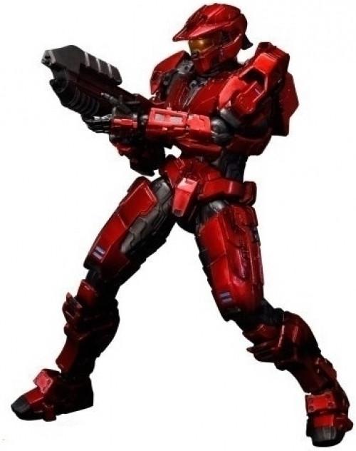Halo Play Arts Kai Spartan Mark V Red