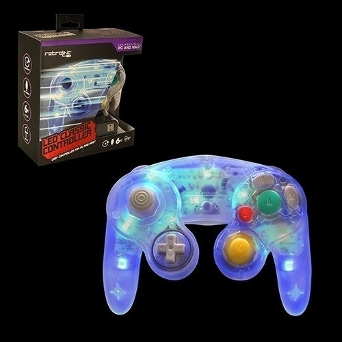 Gamecube Style USB Controller (Blue LED)
