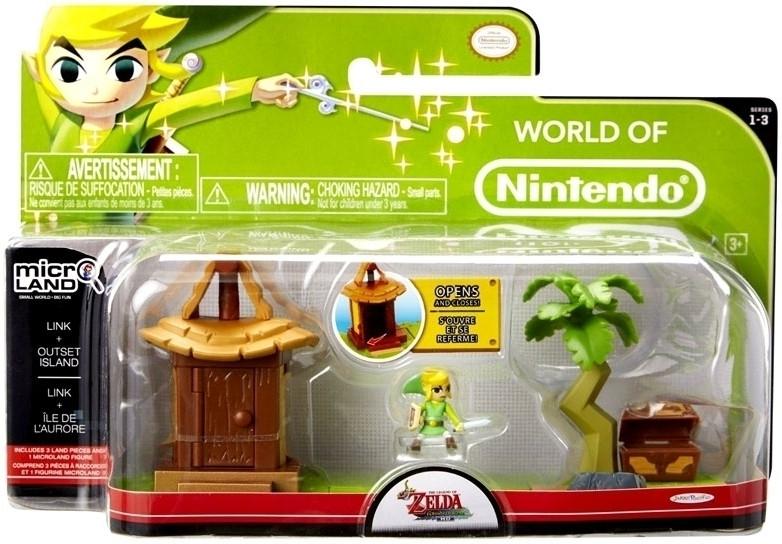 Zelda Microland Playset - Outset Island with Link
