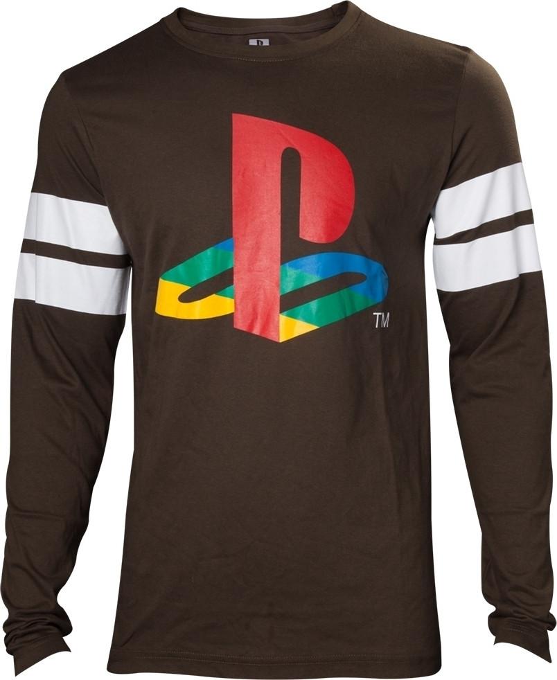 Playstation - Logo Striped Army Men's Longsleeve kopen