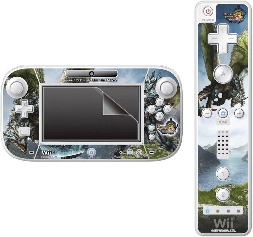 Hori Wii U Monster Hunter 3 Ultimate Filter and Skin Set