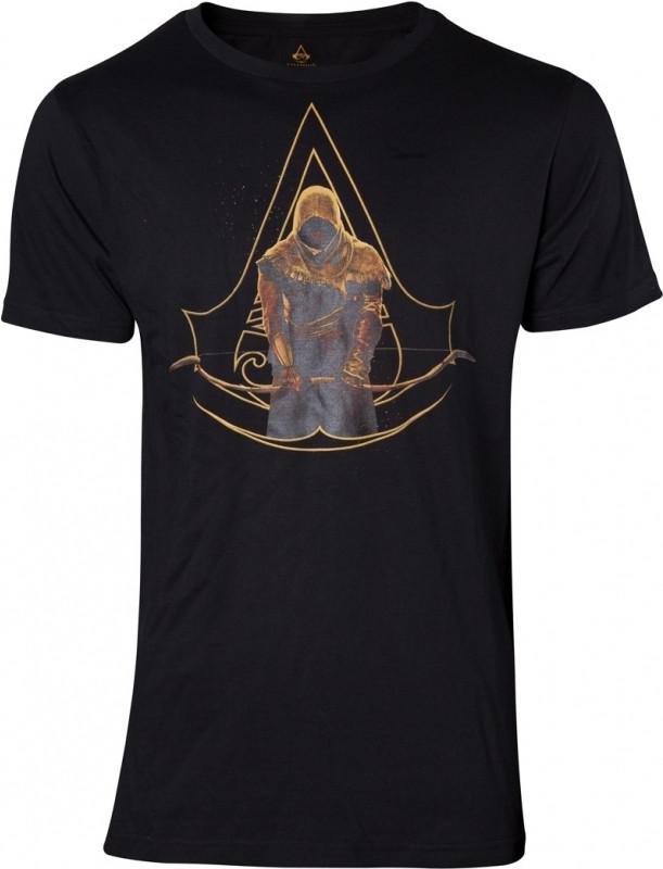 Assassin's Creed Origins - Bayek and Crest Logo T-shirt