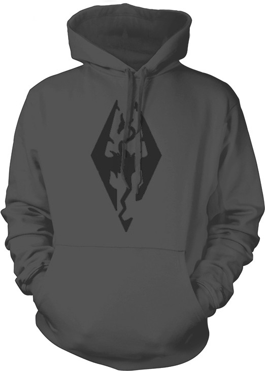 Skyrim - Grey Hoodie Dragon Symbol