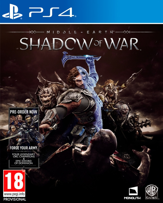 Warner Bros Middle-Earth, Shadow of War PS4 (1000646236)