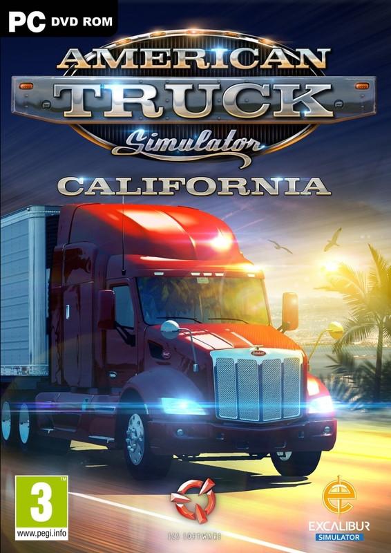American Truck Simulator, California (dvd-rom) (dutch-French Inlay)