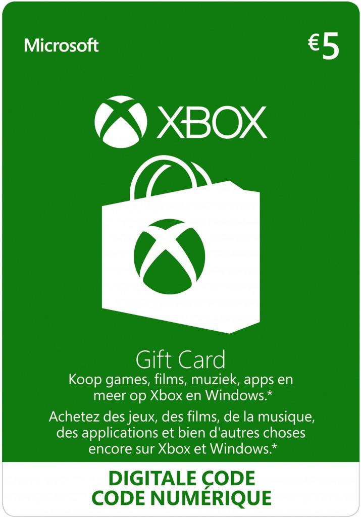 Xbox Live Gift Card 5 Euro (digitaal)