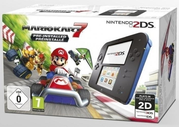 Nintendo 2DS (Black Blue) + Mario Kart 7