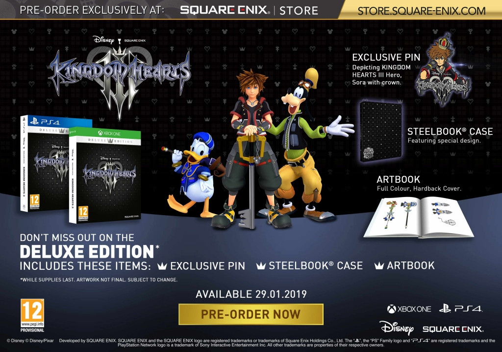 Goedkoopste Kingdom Hearts III (3) Deluxe Edition + Pre-order Bonus