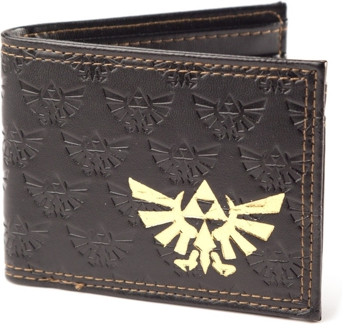 Nintendo Zelda Embossed Bifold Wallet with Gold Foil Logo