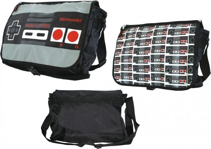 Nintendo Nes Reversible Flap Messenger Bag