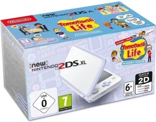 Goedkoopste New Nintendo 2DS XL Console + Tomodachi Life (White / Lavender)