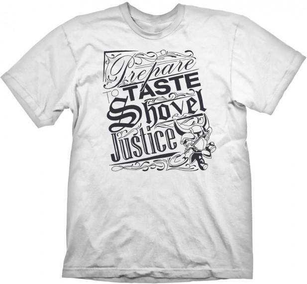 Shovel Knight T-Shirt Shovel Justice WhiteShovel Knight T-Shirt Shovel Justice White