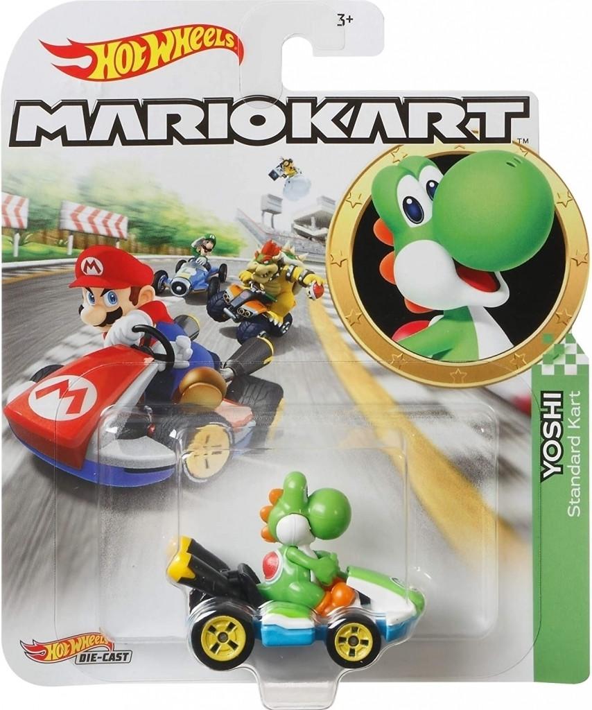 Hot Wheels Mario Kart - Yoshi Standard Kart kopen