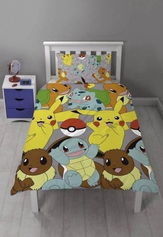 Image of Pokemon Pikachu/Starters Dekbedovertrek (Reversible) 135x200cm