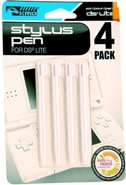 NDS Lite Stylus Pen 4-pack White (KMD)