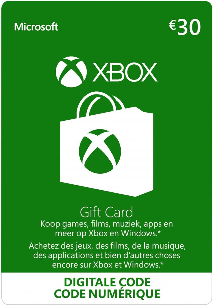 Xbox Live Gift Card 30 Euro (digitaal)