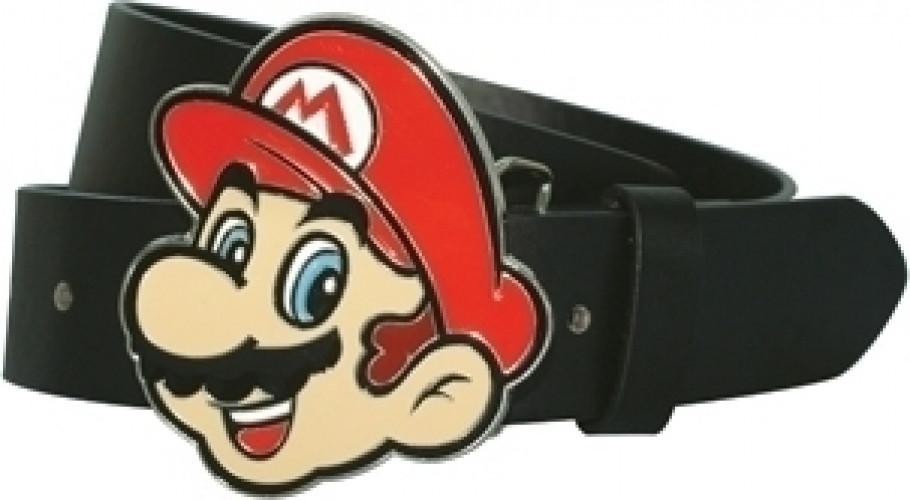 Mario Belt Buckle + Belt (Size L)
