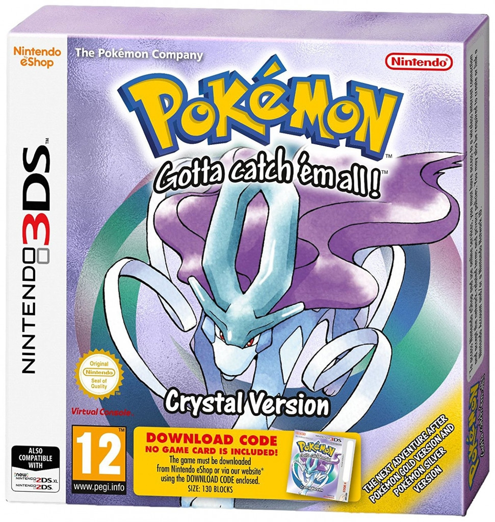 Pokemon Crystal 3DS (Boxed Download Code) kopen