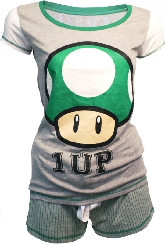 Nintendo 1-Up Mushroom Shortama Women