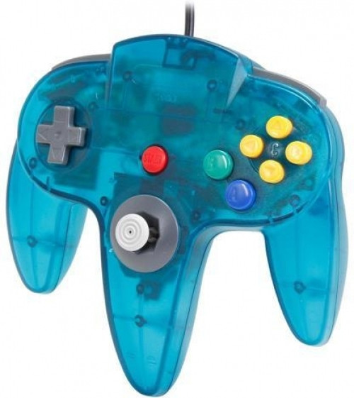 Nintendo 64 Controller Blauw Transparant (TTX Tech)