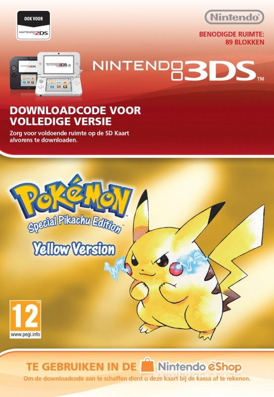 Goedkoopste Pokémon Yellow Edition Virtual Console