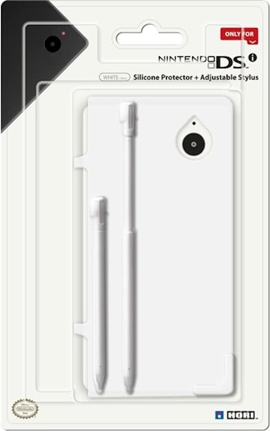 Goedkoopste DSi Silicone Protector + Adjustable Stylus (White)