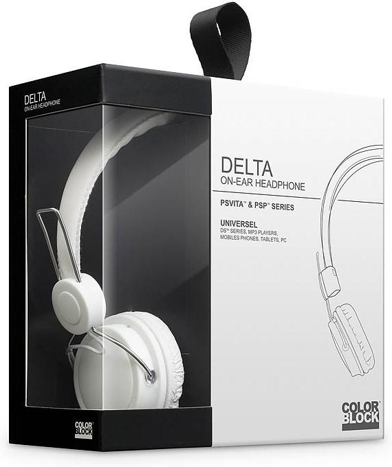 Goedkoopste Big Ben Color Block Delta Headphone (Wit)