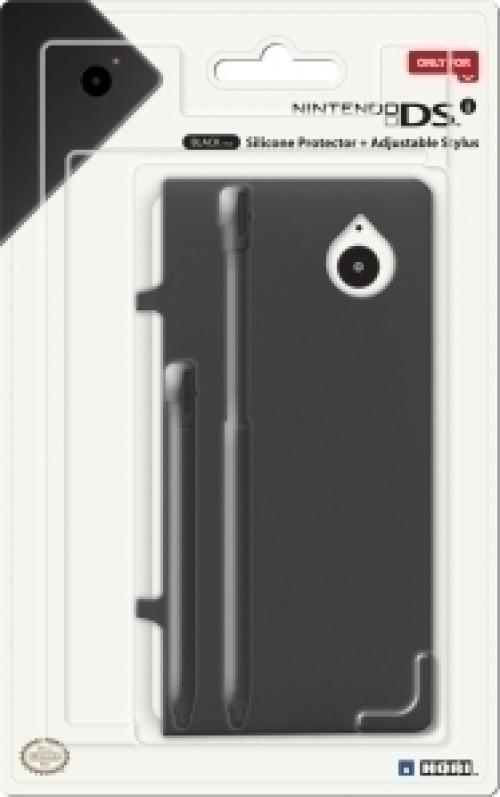 Goedkoopste DSi Silicone Protector + Adjustable Stylus (Black)
