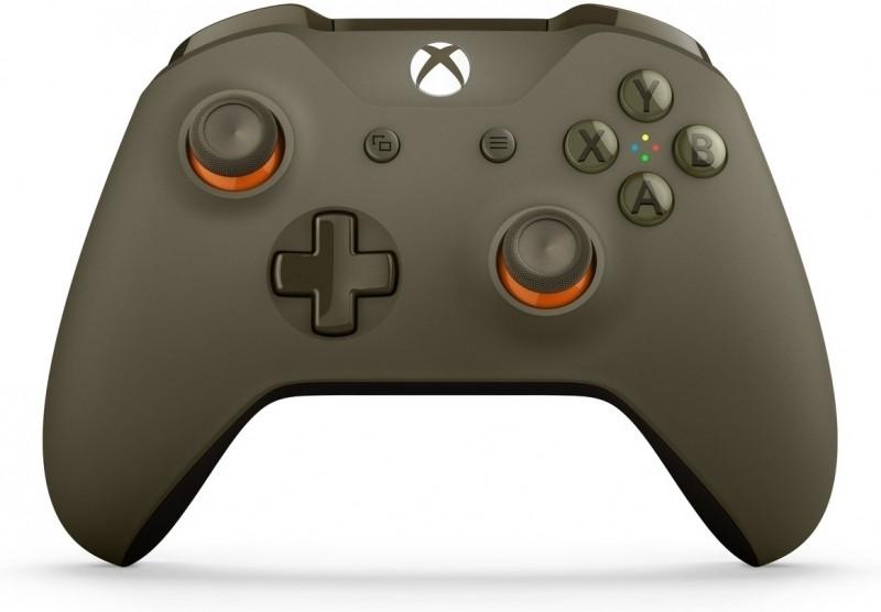 Microsoft Xbox One Wireless Controller (bluetooth) (Army Green/Orange)