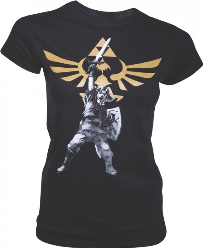 Zelda Black Logo Female T-Shirt