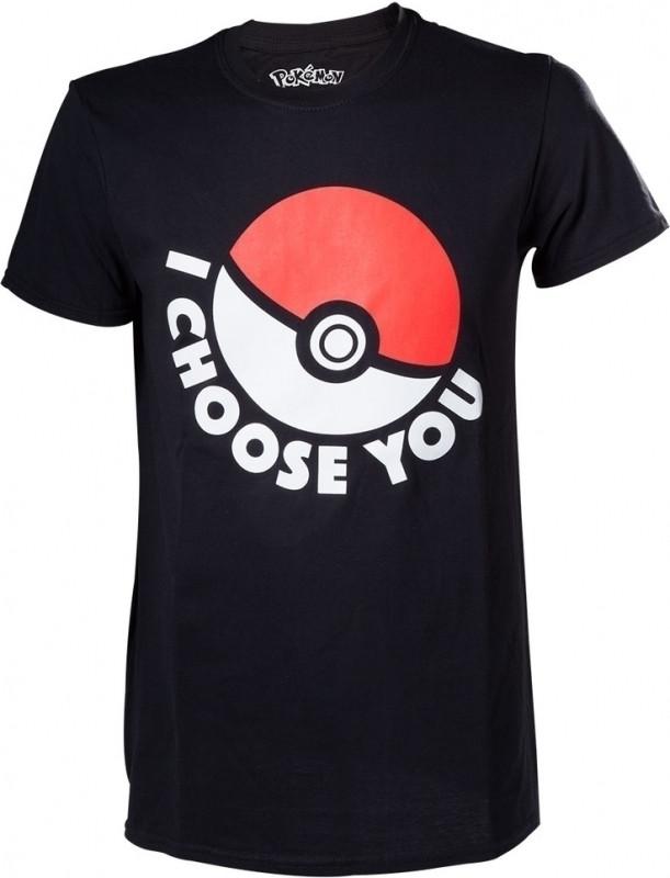 Pokmon T shirt I Choose You Unisex Zwart Maat XL