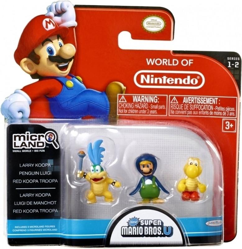 Super Mario Bros Microland Figures - Larry Koopa/Penguin Luigi/Red Koop Troopa