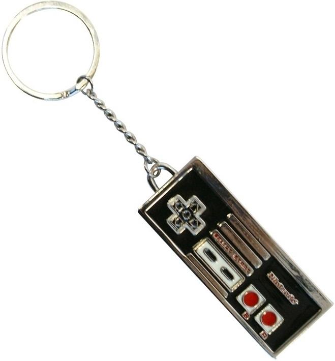 Nintendo Controller Enameled Metal Keychain
