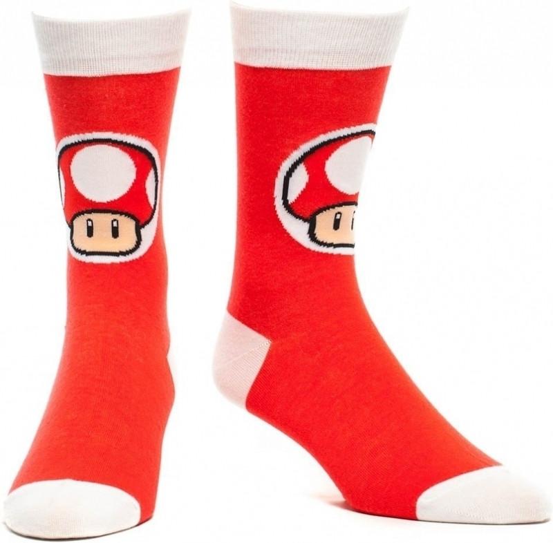 Nintendo Crew Sock Mushroom Red