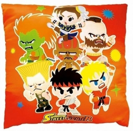 Image of Street Fighter Square Pillow (Orange)