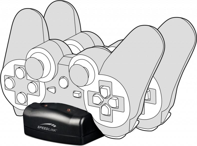 Speedlink Speedlink, JAZZ USB Charger voor PS3 (Zwart) (SL-440001-BK)