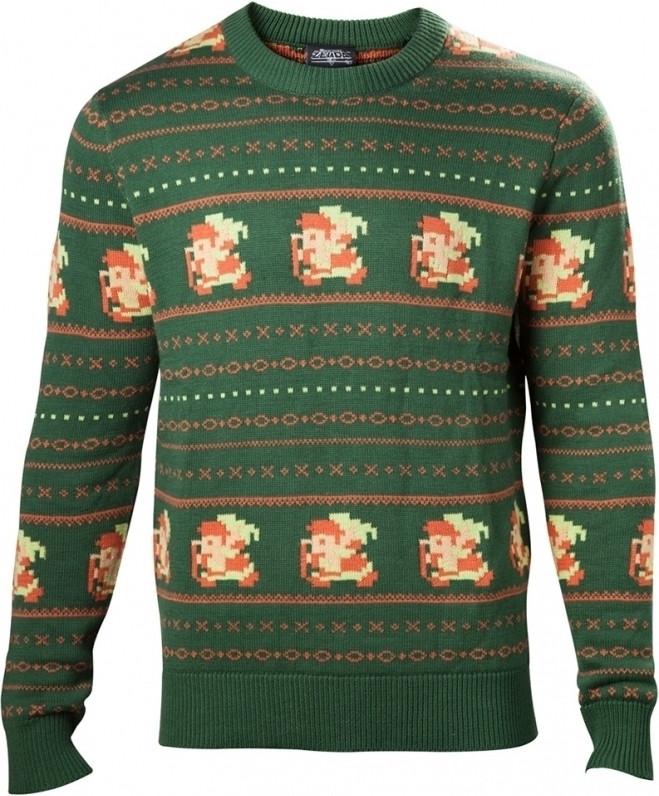 Zelda - Link Knitted Christmas Sweater Green