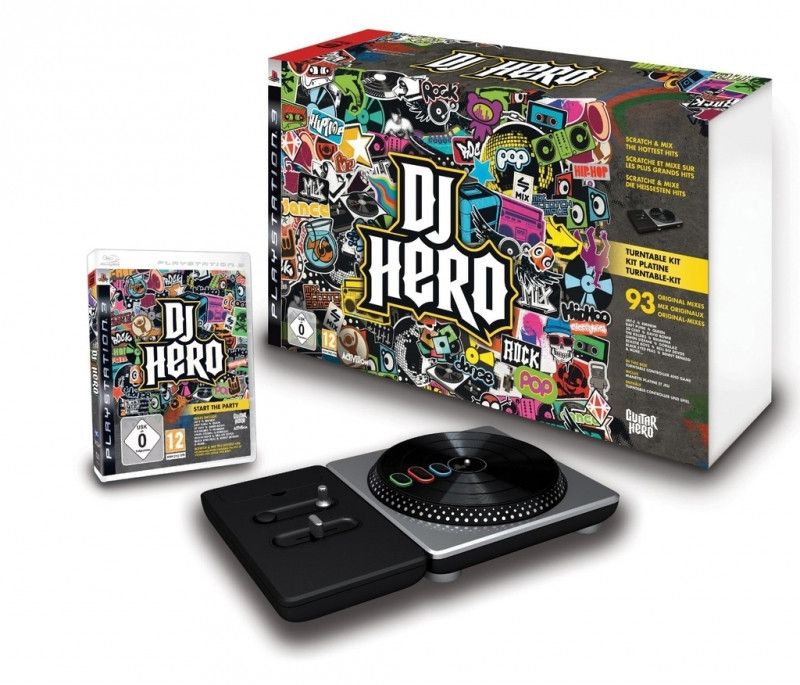 DJ Hero + Draaitafel
