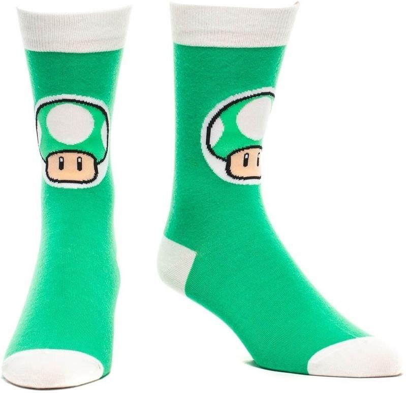 Nintendo Crew Sock Mushroom Green