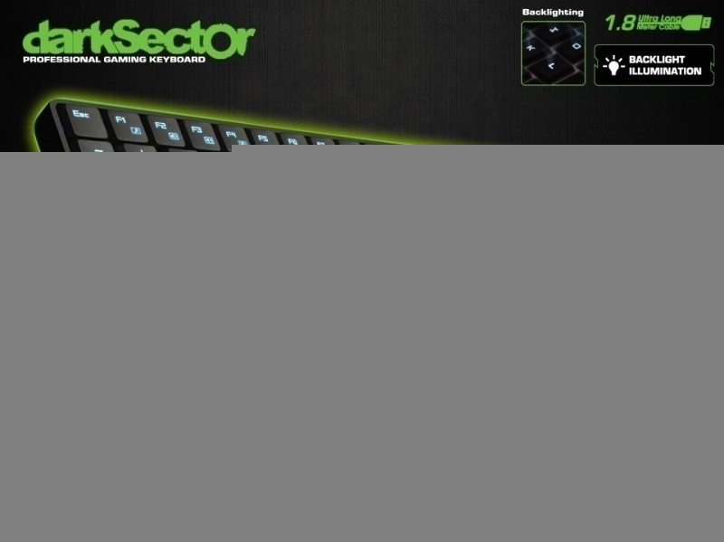 Image of Dragon War Dark Sector Gaming Keyboard (azerty)