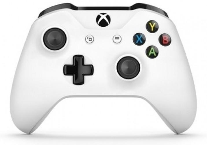 Microsoft Xbox One, Draadloze Controller met 3,5 mm headset-aansluiting (Wit) (TF5-00003)