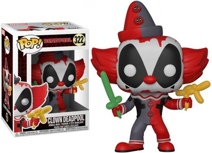 Deadpool Pop Vinyl: Clown Deadpool kopen