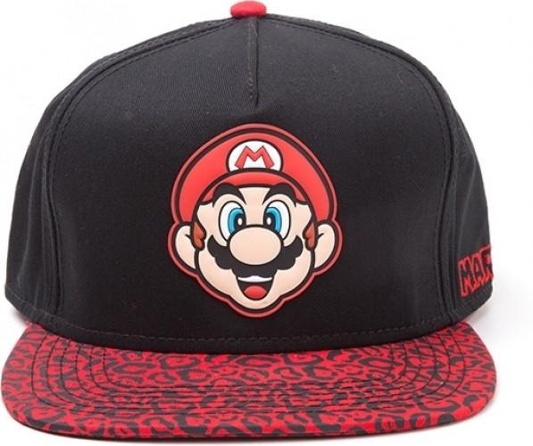 Nintendo Super Mario Mario Animal Print Cap Black-Red