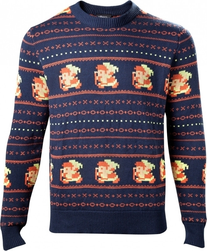 Zelda - Link Christmas Sweater Blue