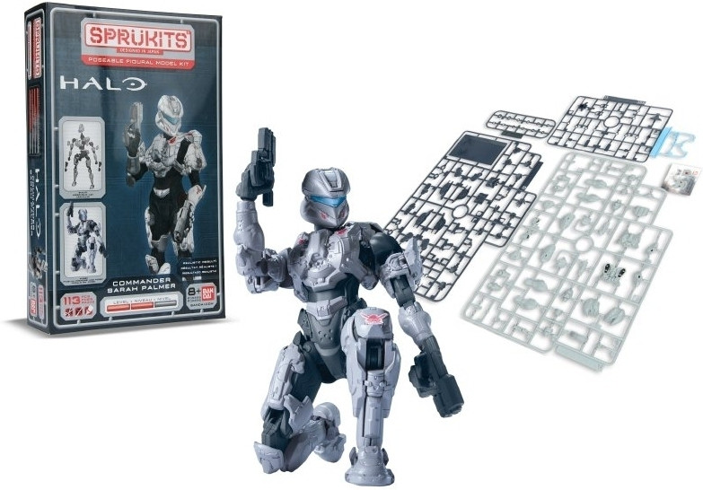Image of Halo Sprukits Model Kit Commander Sarah Palmer