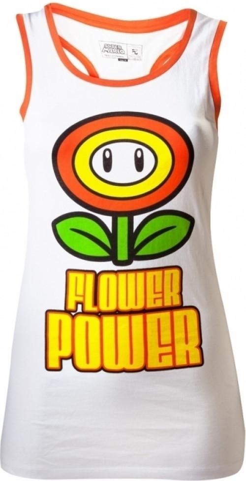 Nintendo White Flower Power Top Women