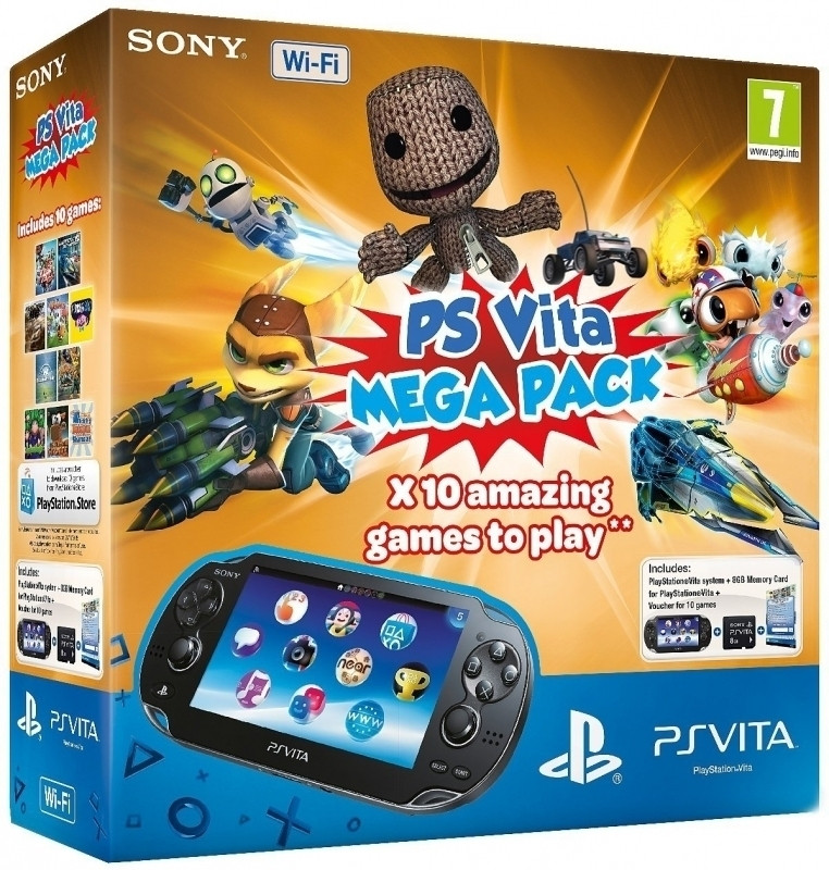 PlayStation Vita (WiFi) incl. 8GB en 10 Games Voucher
