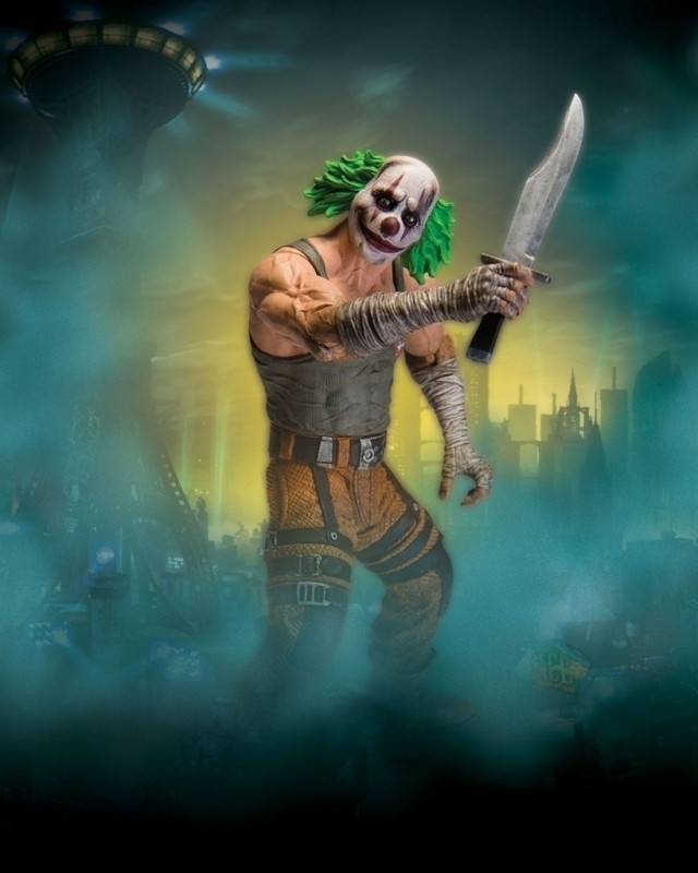 Batman Arkham City Clown Thug with Knife Action Figure kopen